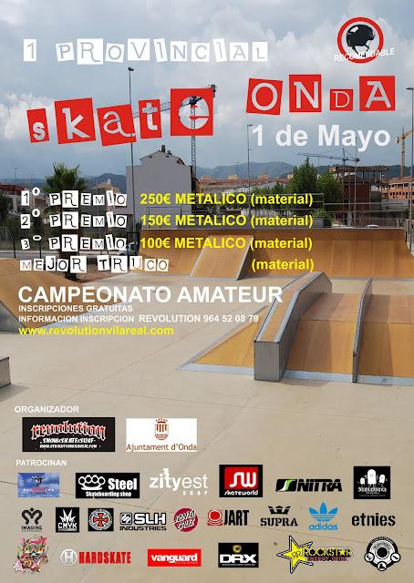 Cartel 1 PROVINCIAL skate Onda