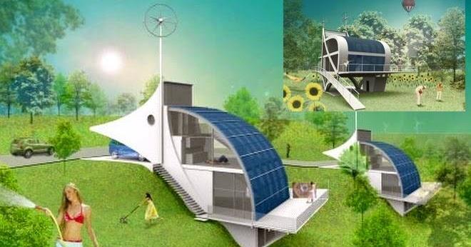 Arquitectura de casas casa futurista con energ a solar e for Cocina con hidrogeno