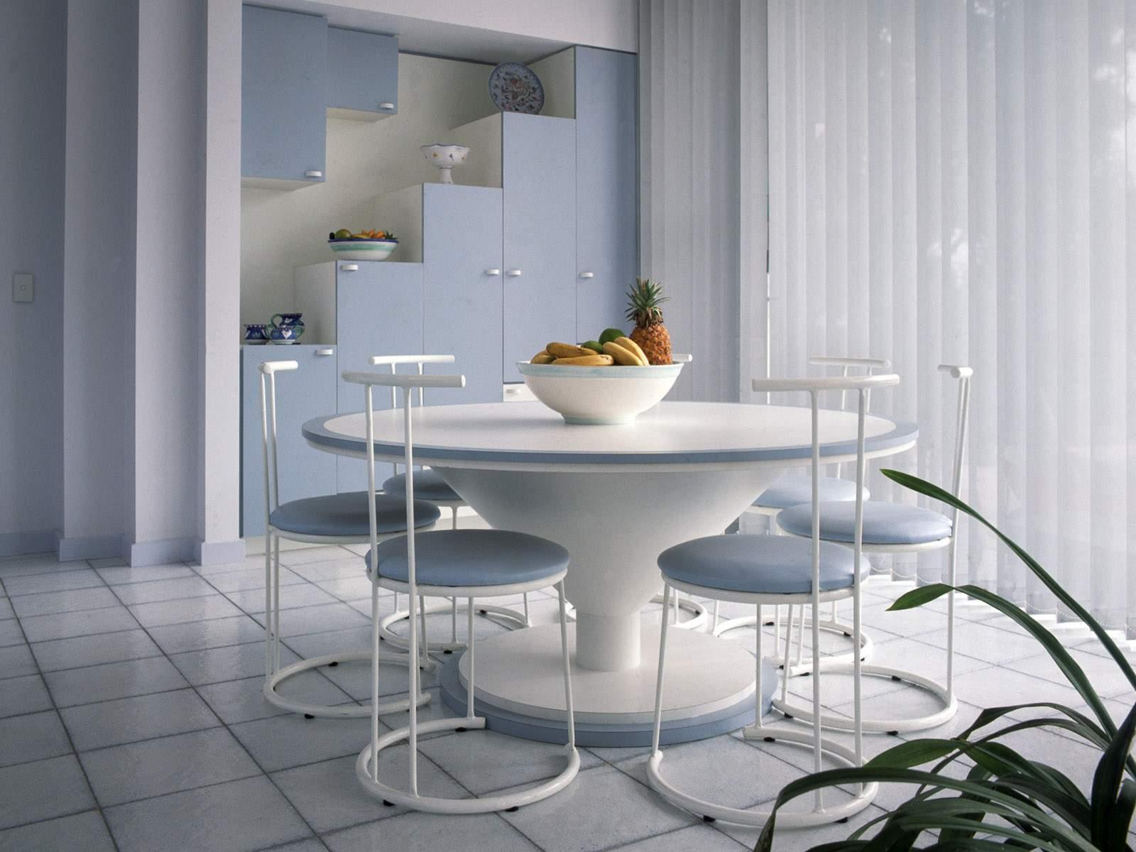 Arquitectura de casas mesas de dise o de comedor diario - Mesas redondas de diseno ...