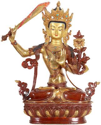 Figura de bronce bañada en oro