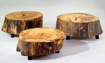 Rodajas troncos mesas