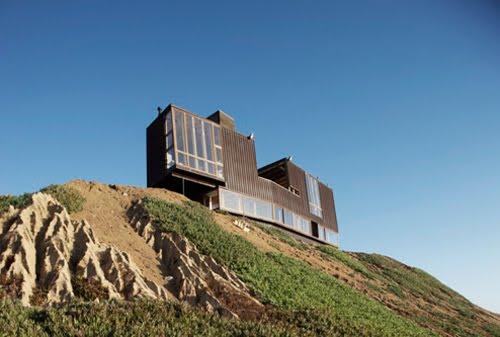Casa contemporánea de madera en la playa en Chile