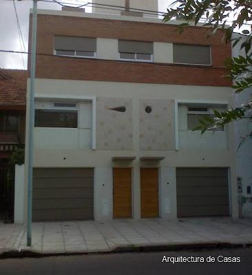 Fachada de casas dobles