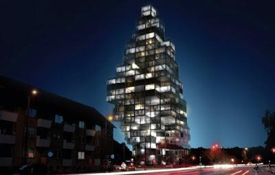 Edificio residencial noche