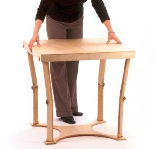 Arquitectura de casas mesa plegable auxiliar en madera - Mesa de centro plegable ...