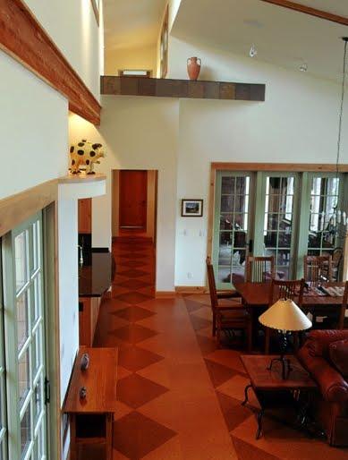 Arquitectura de casas pavimentos interiores de corcho - Casas de corcho ...