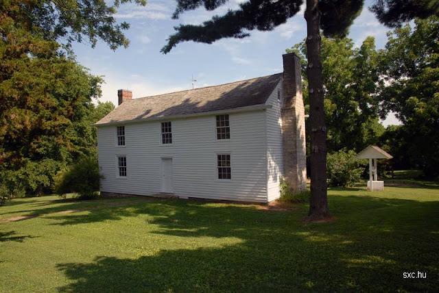 Casa rural de dos plantas en Norteamérica