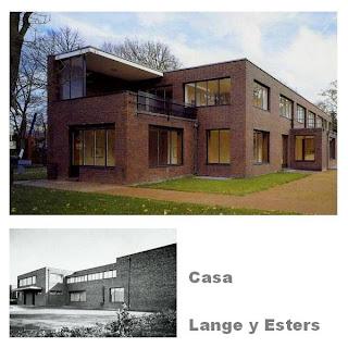 Casa de estilo Moderno con ladrillo vista