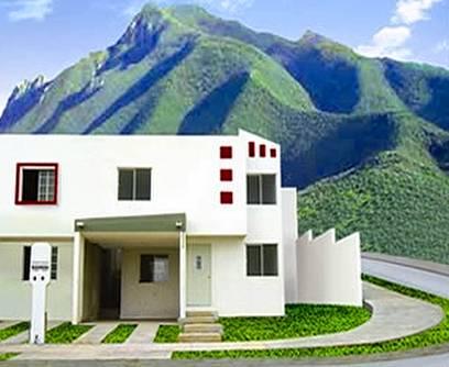Renderizado de una casa residencial contemporánea