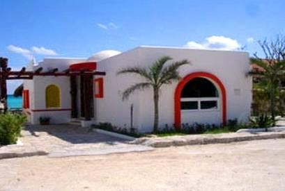 Casa cabaña de playa en el Caribe