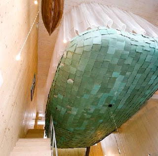 Interior de una casa contemporánea de diseño singular en Holanda