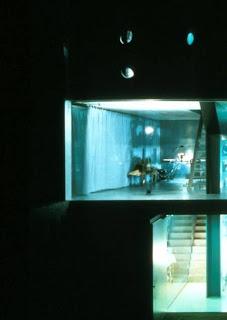 Casa de tres niveles Maison Bordeaux vista nocturna