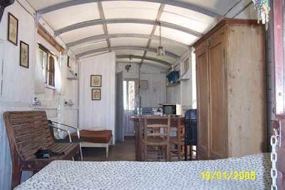 Una casa en un vagón de ferrocarril