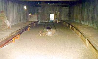 Interior de casa vikinga