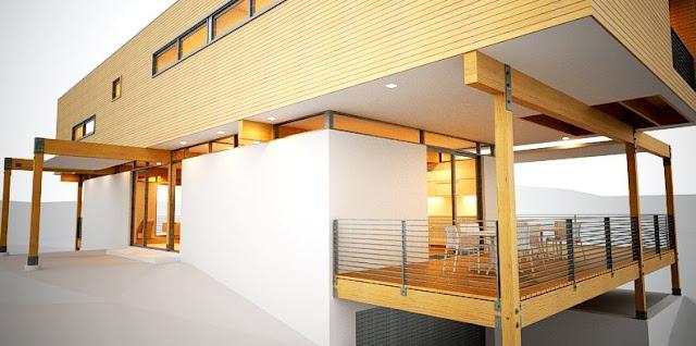 Vivienda prefabricada americana imagen de renderizado del proyecto