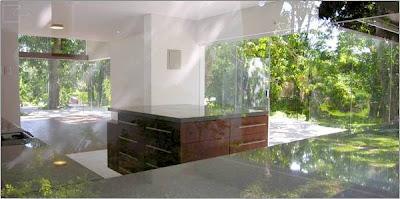 Cocina de casa Minimalista del arquitecto Aparicio en Santa Cruz