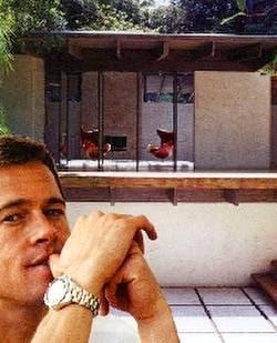 Casa modernista norteamericana y rostro de Brad Pitt