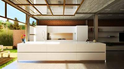 Paredes vidriadas en un ambiente de la casa