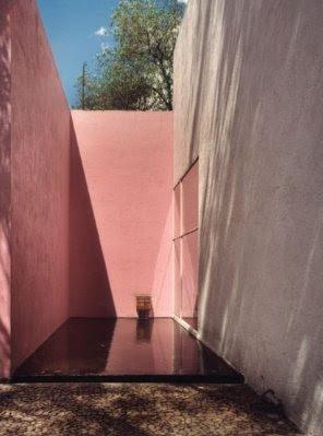 Espejo de agua en el jardín de una residencia moderna