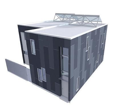 Renderizado de un proyecto arquitectónico de casas económicas