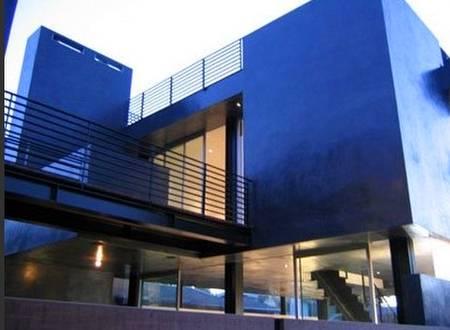Detalle de diseño de una casa contemporánea en Venice, California