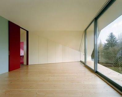 Casa en Suiza vista del interior de una extensión al tope