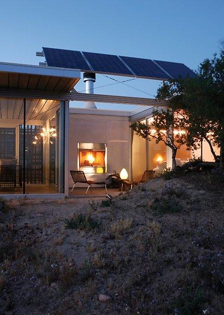 Sector de vivienda contemporánea ecológica en Norteamérica