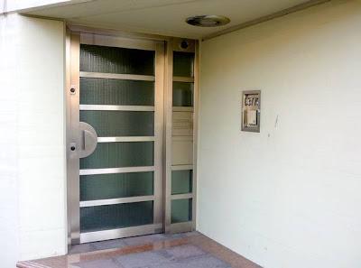 Puerta de acceso de acero inoxidable