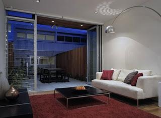 Interior de una de tres casas urbanas triplex en Sydney