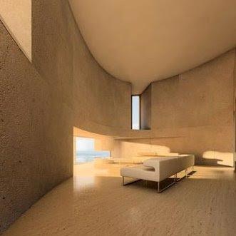 Sala de la moderna casa elipse