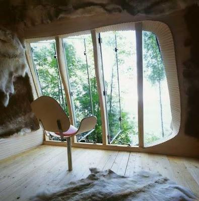 Casa en Suiza con formas orgánicas
