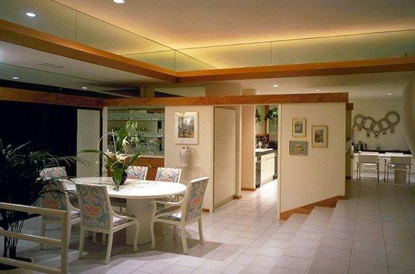Salón comedor principal de la residencia californiana