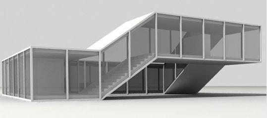 Casa conceptual modelo conceptual digitalizado estudio suizo