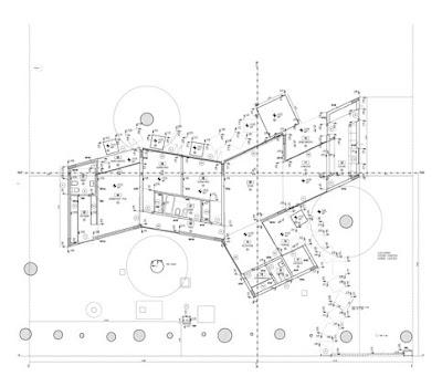 Plano arquitectónico de la planta de la casa
