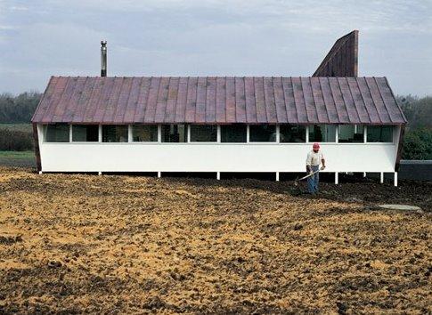 Perfil de la Casa de cobre 2 como galpón de uso rural