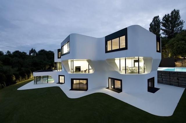 Perspectiva de una residencia vanguardista en Alemania