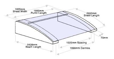Dibujo ilustrativo del techo