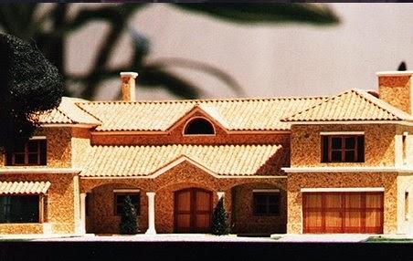 Arquitectura de casas maqueta de chalet residencial - Maquetas de chalets ...