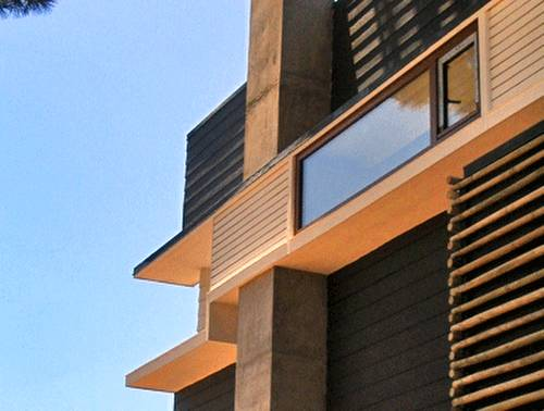 Detalle arquitectónico de un modelo de casa moderna