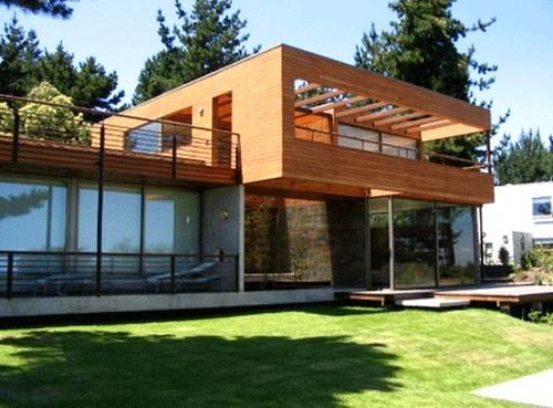 Modelo de casa moderna estilo Contemporáneo