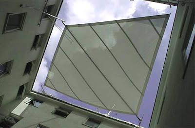 Parasol en edificio