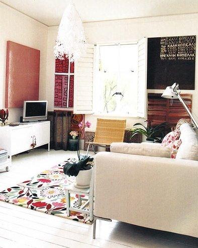 Alfombra colores apartamento en Sydney