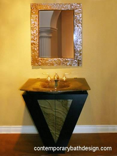 Baños Estilo Art Deco:Arquitectura de Casas: Decoración original de baños con vidrio
