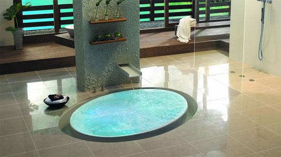 Arquitectura de casas: baño hidromasaje
