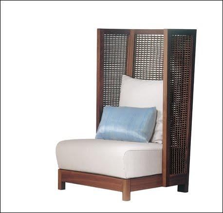 Sillón mueble de madera