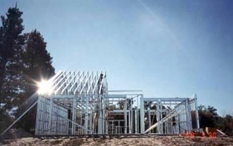 Casa con estructura de acero liviano