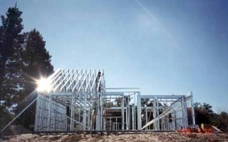Arquitectura de casas casas con estructura de acero steel - Estructuras de hierro para casas ...