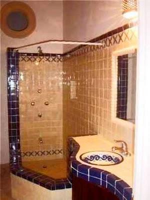 Baño con azulejos