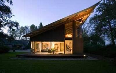 Arquitectura de casas caba a de madera con techo de dise o for Casa holandesa moderna