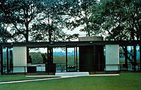 Imagen de la Glass House de Philip Johnson en Connecticut